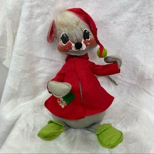 Annalee Mobilitee Christmas vintage mouse doll